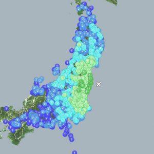 【地震速報】福島県沖を震源とするマグニチュード7.3の地震