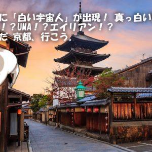 【画像あり】京都に「白い宇宙人」が出現! 真っ白い肌… 妖怪!?UMA!?エイリアン!?そうだ 京都、行こう。